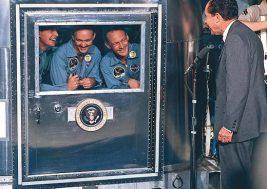 President Nixon Visits Apollo 11