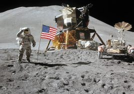 Irwin and Flag Nasa