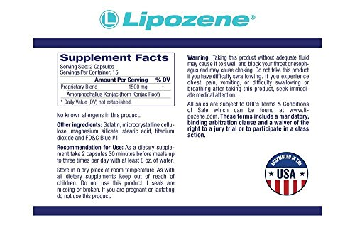 Lipozene Main Label